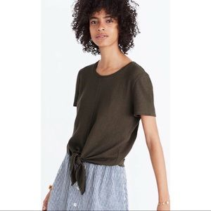 Madewell Texture & Thread Modern Tie-Front Top S